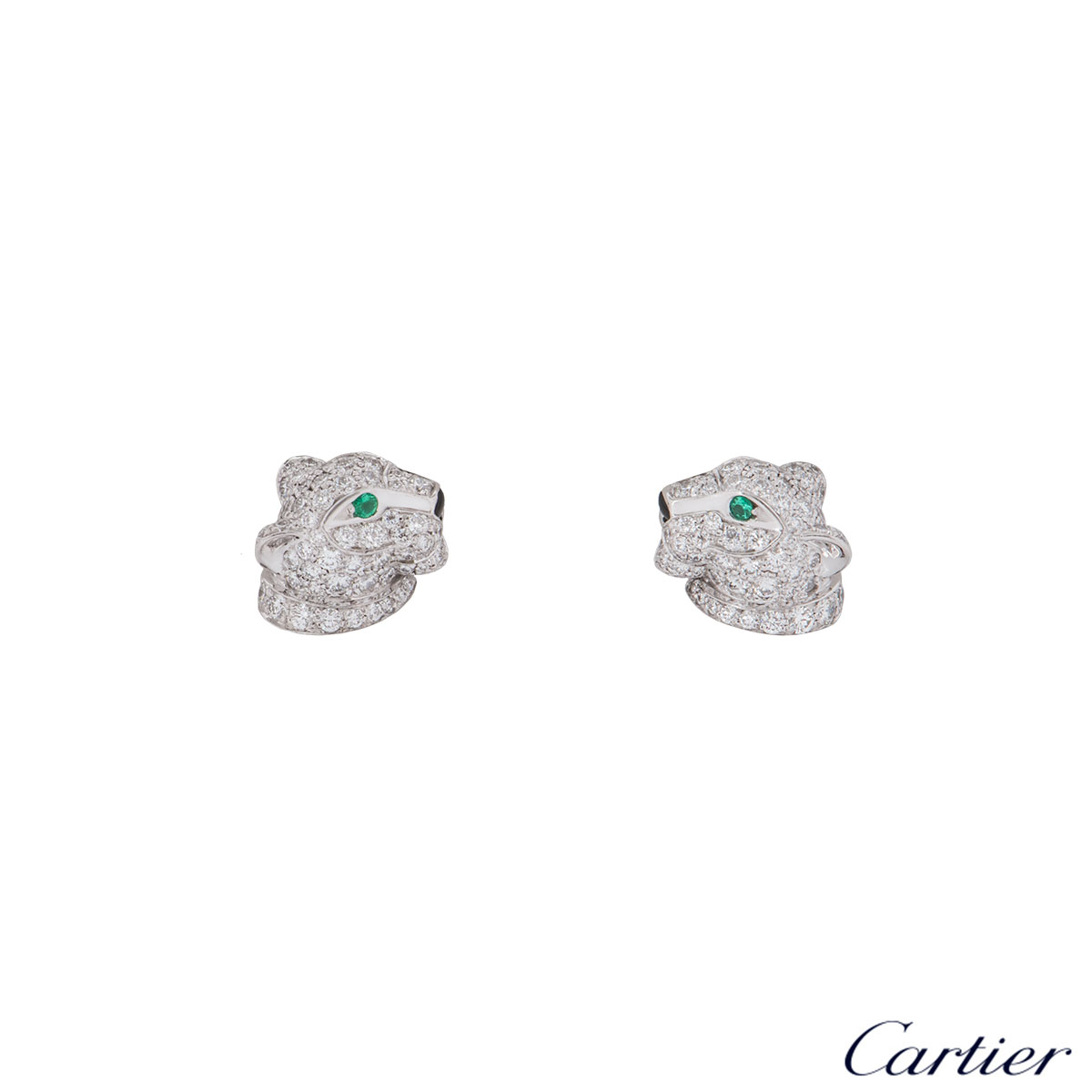 Cartier White Gold Panthere De Cartier Earrings N8050700